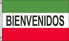 Bienvenidos Advertising Flag 3x5 Banner Red White Green Spanish Business Sign