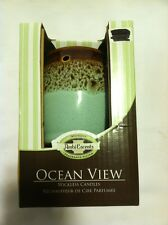 Ocean View Wall Candle Melter, AmbiEscents, Greenish blue & Brown, Plug-In Diffu