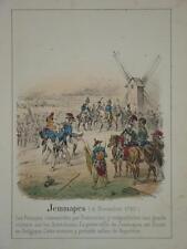 Litho Bataille JEMMAPES REVOLUTION 1792 BELGIQUE HUSSARD MOULIN JEMAPPES 1830