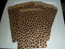 20 Paper bags  6 x 9 leopard print / Great for party favor bag
