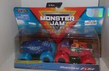 Monster Jam, Official Blue Thunder vs Hurricane Force Die-Cast Monster Truck New