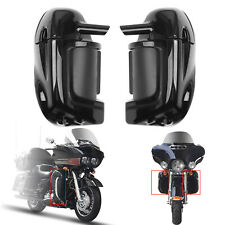 Lower Vented Leg Fairings Glove Box For Harley Road Street Electra Glide FLT CA