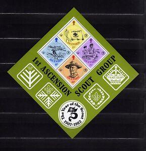 ASCENSION #304a MNH SOUVENIR SHEET SCOUTING YEAR
