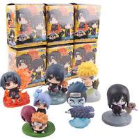 6 Pcs/Set Naruto Shippuden Naruto Itachi Sasuke Mini PVC Figure Model Toy