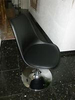 Tenzo TEQUILA, Kunststoffschale mit Sitzkissen in Lederoptik, drehbar, schwarz