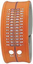 NEW Reflex PD0019 Unisex Orange Silicone Snap Bracelet Design Digital LED Watch