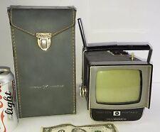 """Vintage retro portable TV Television set transistor 4 1/4"""" JVC Delmonico 4T-20U"""