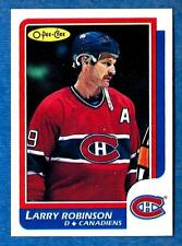 1986-87 O-Pee-Chee (Blank Back) #62 LARRY ROBINSON ex-mt Montreal Canadiens