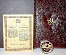 1990 Gold Coin CANADA $100 14Kt + Case + COA + Box International Literacy Year
