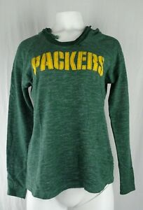 Green Bay Packers NFL Majestic Women's Scoop Neck Hooded Pullover