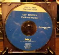 Pre-owned ~ Dell 1908WFP LCD Flat Panel Monitor Drivers & User Documentation CD