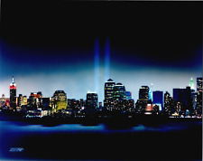New York City Twin Towers In Lights 8x10 Color Photo