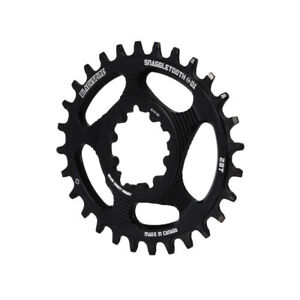 Blackspire Snaggletooth GXP DM Oval NW chainring, 28T - black