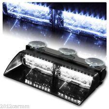 16 LED Car Police Strobe Light Dash Emergency 18 Flashing Police Lights White