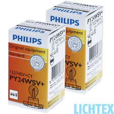 PY24W PHILIPS SilverVision - Ultimate Style Chrom-Effekt DUO-Pack-Box