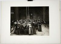 "JEAN BERAUD Print Photogravure French Engraving 1800s 15.5"" x 11.5"""