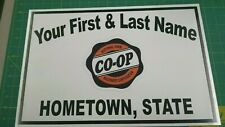 PERSONALIZED CO-OP FARM MACHINERY CORPORATION ALUMINUM NAME SIGN