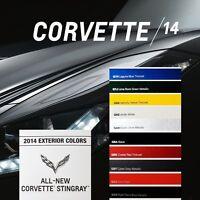 2014 STINGRAY Z51 CORVETTE - BOOK BROCHURE + PAINT CHART - C7 CHEVROLET 6.2L LT1