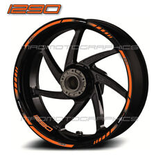 1290 Super Duke R motorcycle wheel decals for KTM rim stickers Laminated set