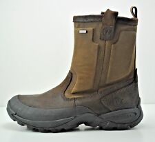 Mens Merrell Bergenz Waterproof Winter Boots Size 7 Brown Black J75295