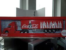 Cararama Oxford CR043CC 1/50 Volvo NH12 Fridge Trailer Coca Cola Bottles Red