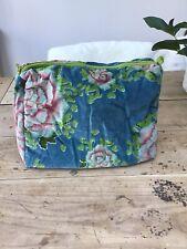 Velvet Floral Zipped Bag