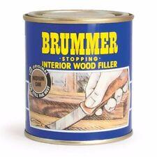 BRUMMER STOPPING INTERIOR WOOD FILLER - VARIOUS SHADES - SMALL & MEDIUM TINS