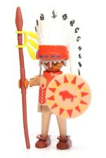 Playmobil Figure Custom Western Indian Old Chief Spear Shield Moccasins 3395