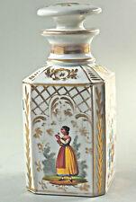 Bella antica barattolo tè,Porcellana Caraffa,decorazioni floreali,dipinti a mano