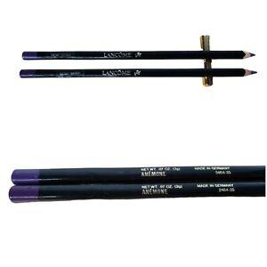 Lancome Le Crayon Kohl Anemone Lot of 2 Purple Eye Pencils 2g (T)