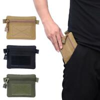 Outdoor EDC Molle Pouch Wallet Waterproof Portable Travel Zipper Mini Waist Bags