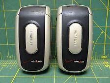 *Lot of 2* Samsung SCH-A630 Portable Dualband Phone Model# BST476BKA Verizon