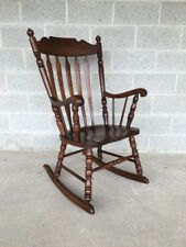 TELL CITY #49 RUMFORD SOLID MAPLE ARROW BACK ROCKING CHAIR/ROCKER