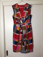 Eva Franco Ladies Multicoloured Fit And Flare Dress Size US06 Aus10 Cocktail EUC