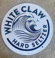 White Claw Hard Seltzer Tin Tacker Sign - New in Bag - 20""