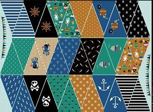 Baumwolle Digitaldruck, Popeline Verhees Textiles, Girlande, Smaragd / Bunt