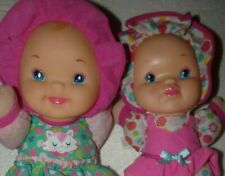 """Baby Doll Lot Of 2 with Sound Goldberger Kisses & Giggles~13"""" Cloth/w Vinyl Face"""