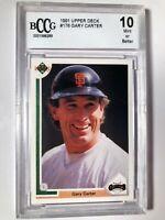 1991 Gary Carter Upper Deck #176 Graded BCCG 10 San Francisco Giants HOF
