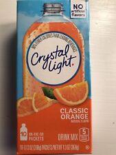 50 single packets Crystal Light Drink Mix ORANGE Vitamin C flavor citrus taste