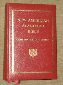 Cambridge Study Edition New American Standard Bible NASB Reference Red Letter