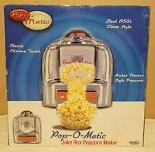 NEW 2007 POP-O-MATIC POPCORN MAKER RETRO 1950s DINER JUKEBOX CLASSIC CHROME