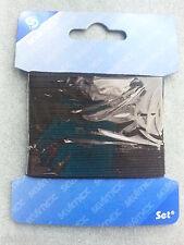 Ruban élastique 3mm x 5 Mètre,1 ruban élastique noir de 5 mètres,élastique noir