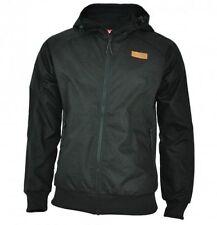Cappotti e giacche da uomo nero impermeabili con cerniera