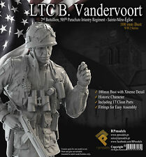 RP Models Lt Vandervoort WW2 Unpainted 1/9th scale bust kit OOP Last Few
