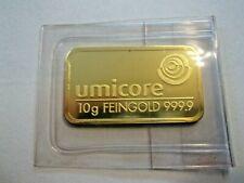 10 Gramm Goldbarren Umicore 999,9/1000, OVP