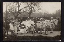 Caernarvon May Queen Scene - real photographic postcard