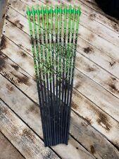 12 Gold Tip Primos Green Blemished 400 Fletched