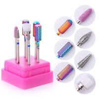 7Pcs/Set Nagel Bohren Bits Grinding UV Gel Entferner Auroras Nail Werkzeuge