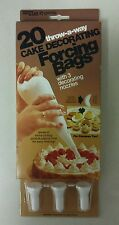 Cake Decorating Bags! 20 Vintage 1986 Forcing Bags with 3 Nozzles! Nice  Item!