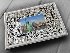 "Personalised photo album, memory book, 6x4"" photos, New York America holiday"